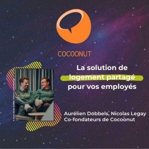 MeeTHI'ng, participant, Cocoonut, Aurélien Dobbels et Nicolas Legay, slogan : la solution de logement partagé pour vos employés