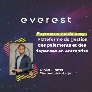 MeeTHI'ng, participant : Everest, Olivier Picavet, slogan : payment made easy, plateforme de gestion des paiements et des dépenses en entreprises