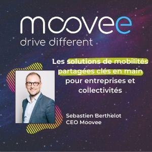 Meething, participant : Moovee, Sebastien Berthelot, slogan : les solutions de mobilités partagées clés en main pour entreprises et collectivités