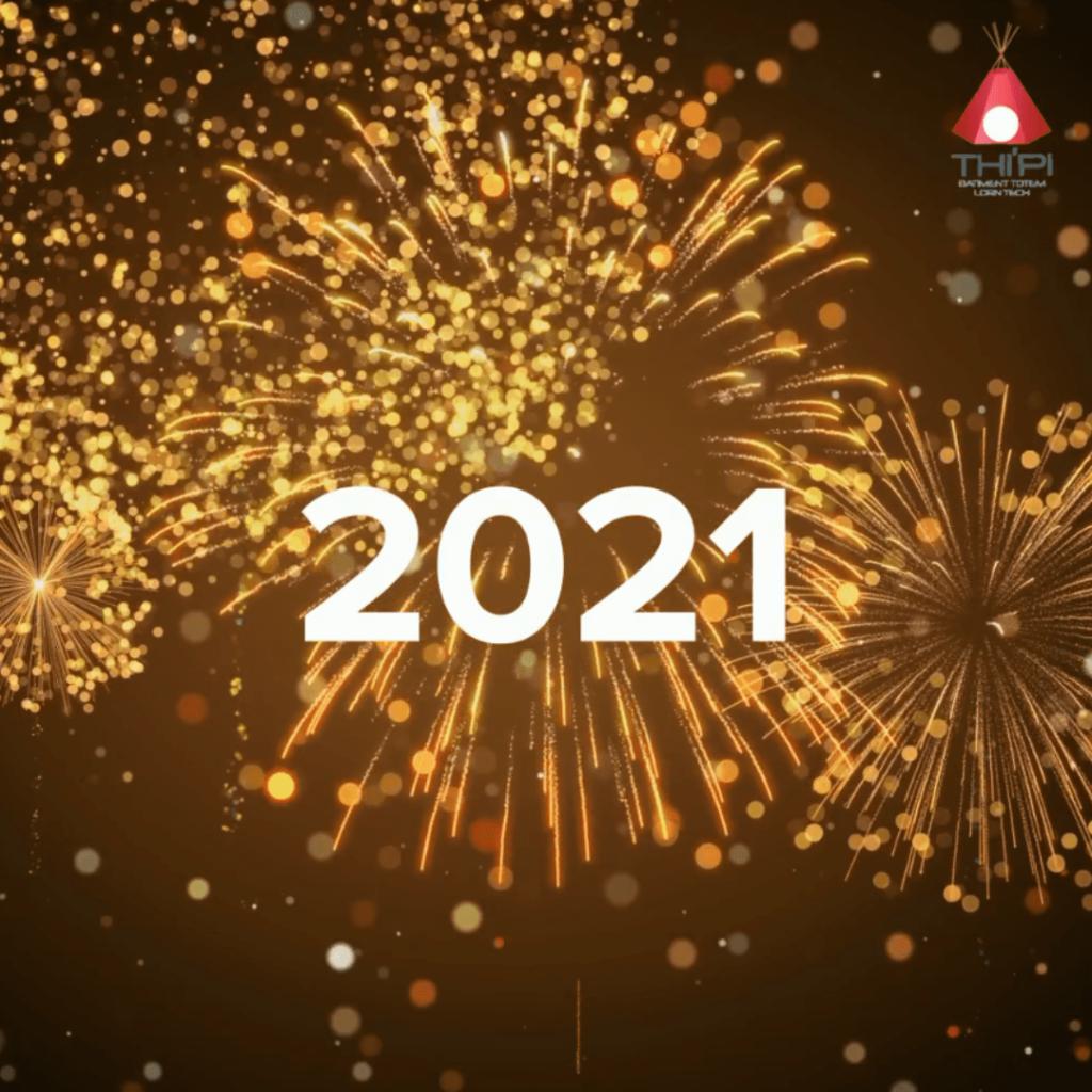 capture d'écran bonne année 2021